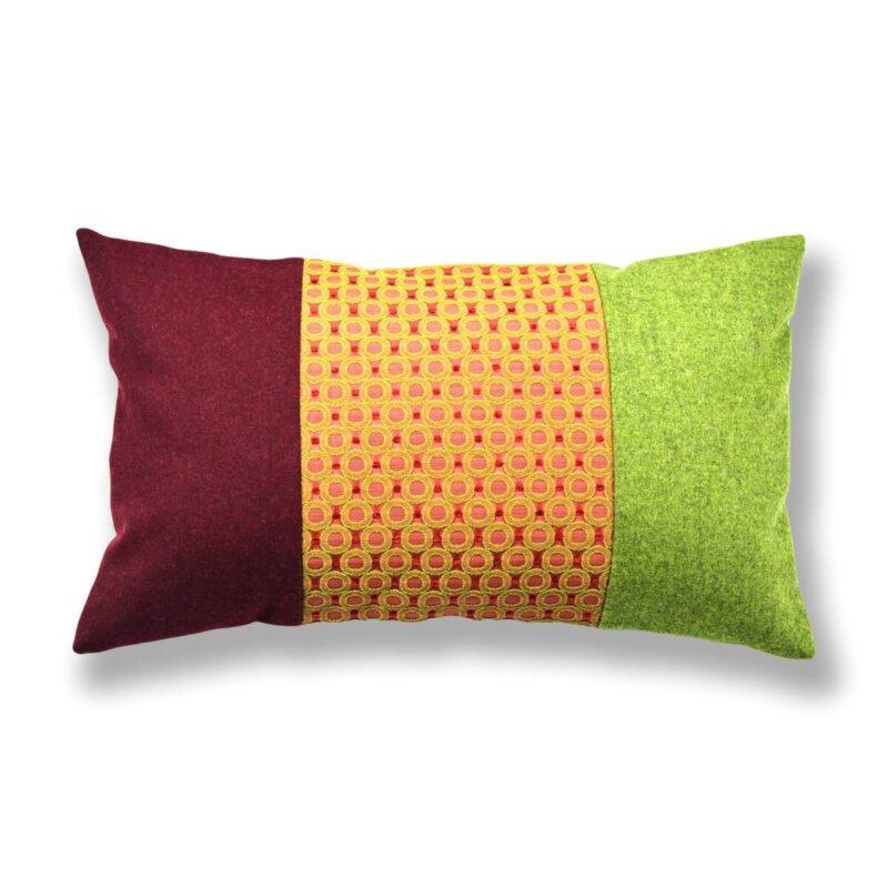 Kissen-Unikate von AN-NA Design in starke Farben.