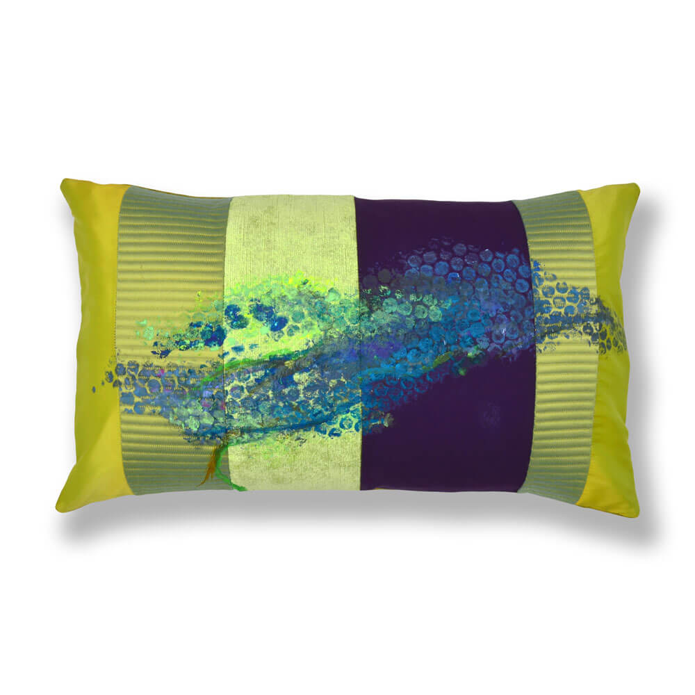 Kissen-Unikate und Kissen-Objekte von AN-NA Design in starken Farben.