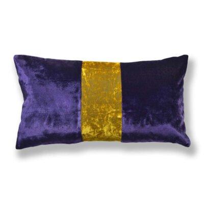 Kissen-Unikate von AN-NA Design in starken Farben, hier lila und gelb.